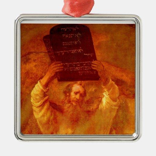 Moses y el ornamento 2 de 10 mandamientos ornamento de reyes magos