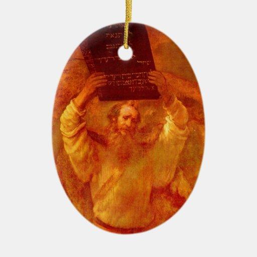 Moses y el ornamento de 10 mandamientos ornamentos de reyes magos