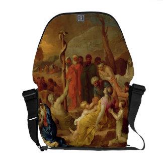 Moses y la serpiente descarada, c.1653-54 (aceite  bolsa de mensajeria