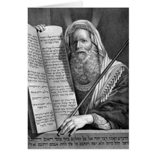 Moses y la tarjeta de diez mandamientos