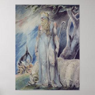 Moses y la zarza ardiente póster
