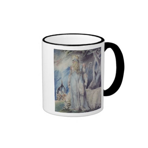 Moses y la zarza ardiente taza de dos colores