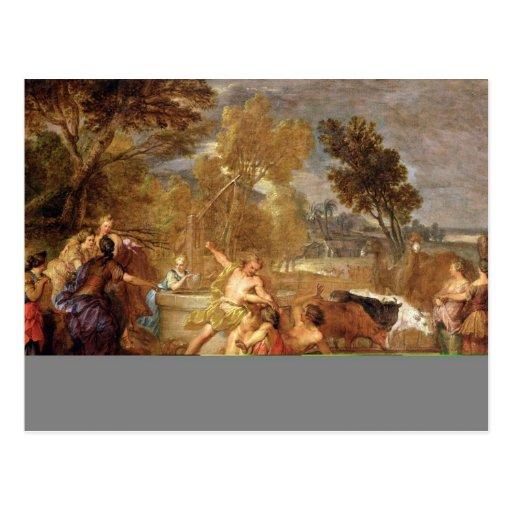 Moses y las hijas de Jethro Postales