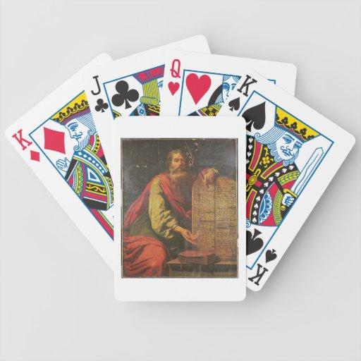 Moses y las tabletas de la ley baraja cartas de poker