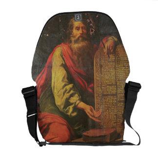Moses y las tabletas de la ley bolsa de mensajeria