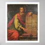 Moses y las tabletas de la ley póster