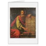 Moses y las tabletas de la ley tarjeta de felicitación