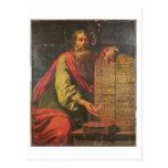 Moses y las tabletas de la ley tarjetas postales