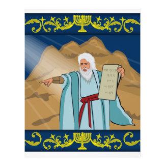 Moses y los diez mandamientos membrete personalizado