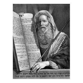 Moses y los diez mandamientos postal