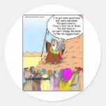 Moses y los diez regalos y camisetas divertidos de etiqueta redonda