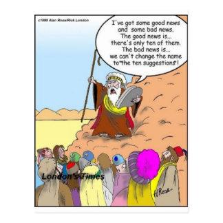 Moses y los diez regalos y camisetas divertidos de postal