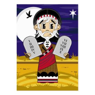 Moses y señal de 10 mandamientos plantillas de tarjetas de visita