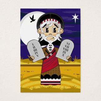 Moses y señal de 10 mandamientos tarjetas de visita grandes