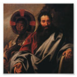 Moses y su esposa etíope por Jordaens Posters