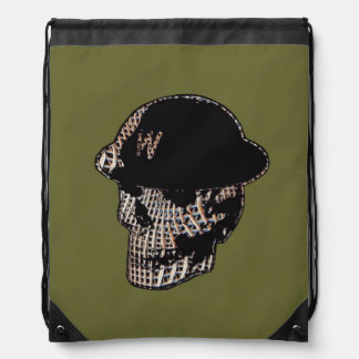 Mosh Mesh Skull Drawstring Bag