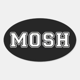 Mosh Oval Sticker