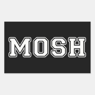 Mosh Pegatina Rectangular