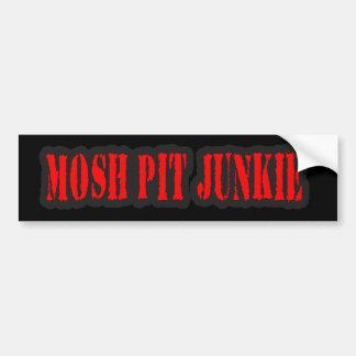 MOSH PIT JUNKIE guys girls punk rock mosh pit Bumper Sticker