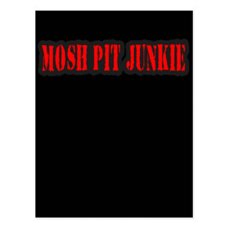 MOSH PIT JUNKIE guys girls punk rock mosh pit Postcard
