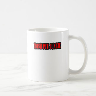 MOSH PIT JUNKIE punk rock Classic White Coffee Mug