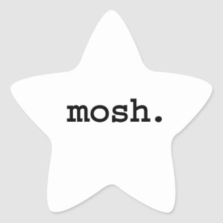 mosh. star sticker