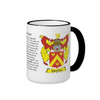 Mosher Family Coat of Arms Mug
