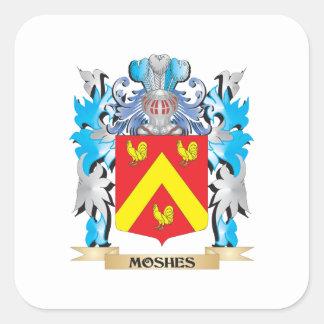Moshes el escudo de armas - escudo de la familia pegatina cuadrada