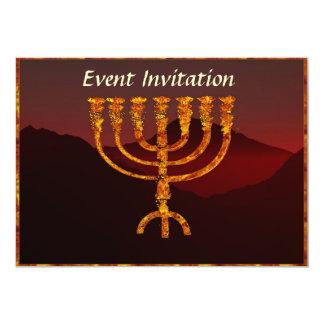 Moshe's Menorah Card