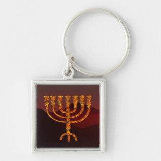 Moshe's Menorah Keychain
