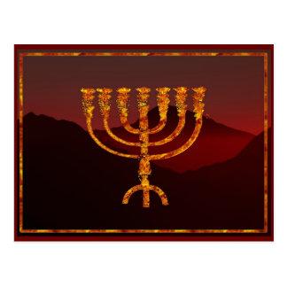 Moshe's Menorah Postcard