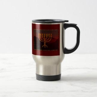 Moshe's Menorah Travel Mug