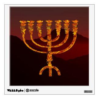 Moshe's Menorah Wall Decal