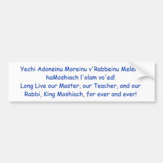 Moshiach Bumper Sticker