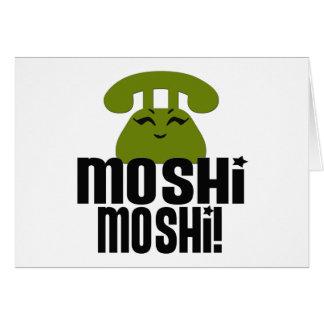 Moshimoshi Greeting Card