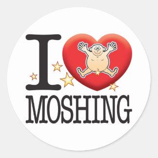 Moshing Love Man Classic Round Sticker