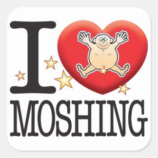 Moshing Love Man Square Sticker