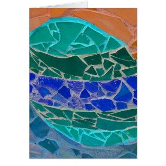 mosiac anaranjado azul del trullo tarjeta de felicitación