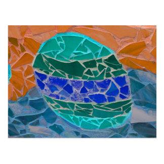 mosiac anaranjado azul del trullo tarjetas postales