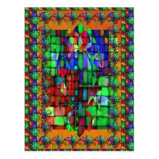 Mosiac de cristal exquisito postal