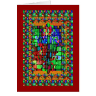 Mosiac de cristal exquisito tarjeta de felicitación