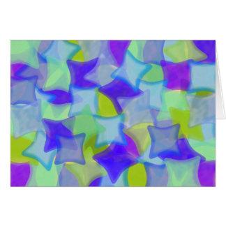 Mosiac del vidrio del mar tarjeta de felicitación