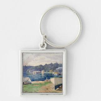 Mosman's Bay, Sydney Silver-Colored Square Keychain