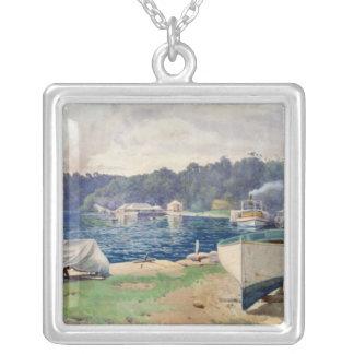 Mosman's Bay, Sydney Square Pendant Necklace