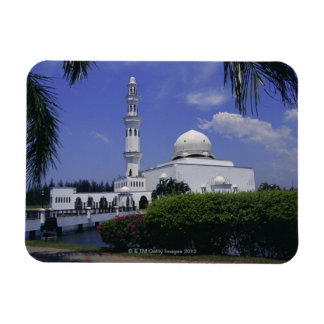 Mosque and tower, Singapore Rectangle Magnets