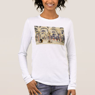 Mosque at Cordoba, from 'Sketches of Spain', engra Long Sleeve T-Shirt