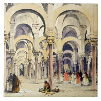 Mosque at Cordoba, from 'Sketches of Spain', engra Tile