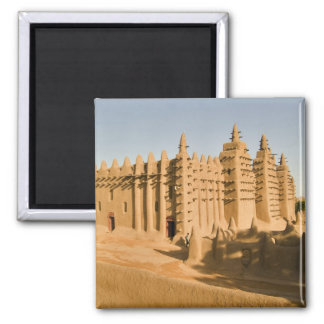 Mosque at Djenne, a classic example of 2 Inch Square Magnet