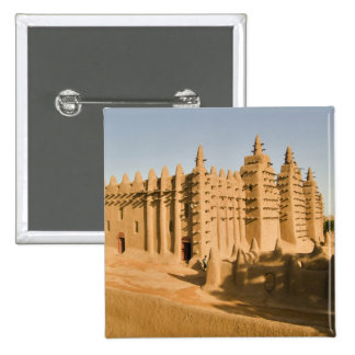 Mosque at Djenne, a classic example of 2 Inch Square Button