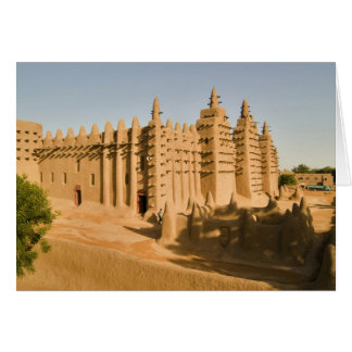 Mosque at Djenne, a classic example of Card